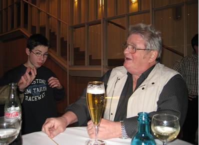 Hermann beim gemütlichen Teil des Abends